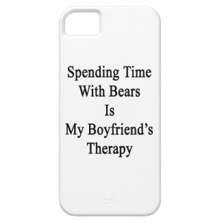 Spending Time With Bears Is My Boyfriend's Therapy iPhone 5 Covers