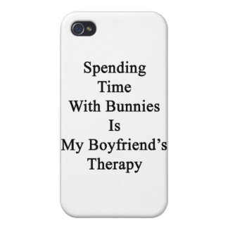Spending Time With Bunnies Is My Boyfriend's Thera iPhone 4/4S Covers