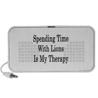 Spending Time With Lions Is My Therapy Mp3 Speakers