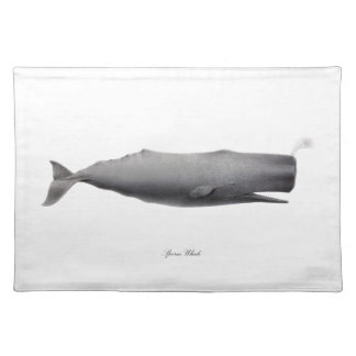 Sperm Whale #12 Gift for him Placemat