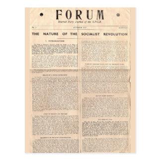 SPGB Forum Journal 1952-1 Postcard