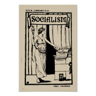 SPGB Library No 9 Socialism (1920) pamphlet cover Poster