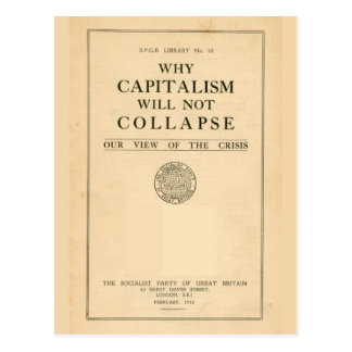 SPGB Why Capitalism Will Not Collapse 1932 Postcard