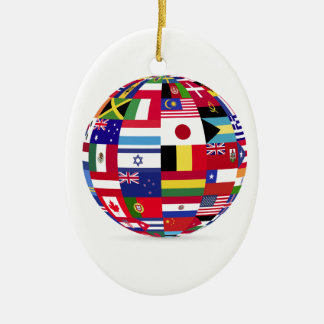 sphere flags many [Converted].jpg Ceramic Oval Decoration