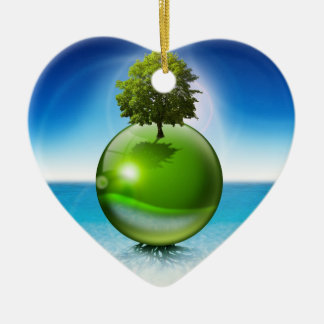 Sphere tree -  ecology concept christmas ornament