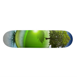 Sphere tree -  ecology concept skate boards