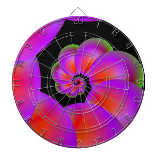 Spheres in Red Pink and Green Dartboard