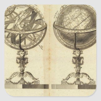 Spheres of the Globe Square Sticker