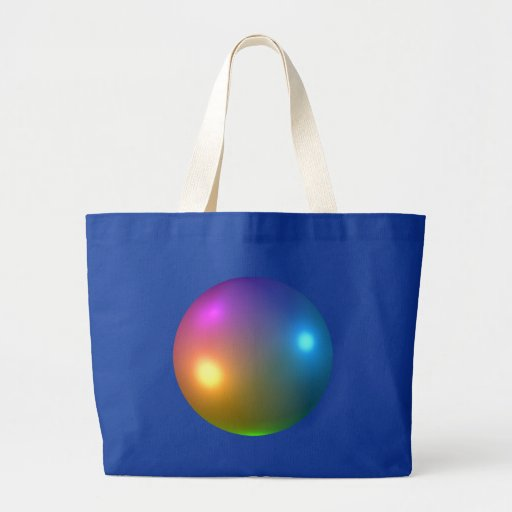 Spheres Shiny Canvas Bag