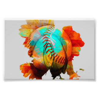 Spherical Mixed Flower, Energized Photo! Photo Print