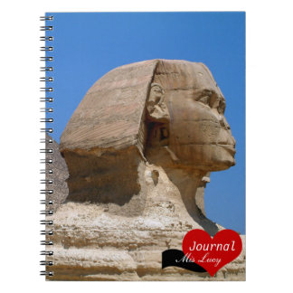 Sphinx, Ancient Egypt, Pyramids No.2 (Notebook) Spiral Note Book