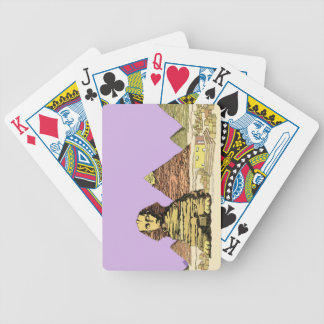 Sphinx and a Pyramid Bicycle Playing Cards