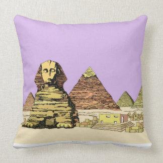 Sphinx and a Pyramid Cushion