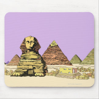 Sphinx and a Pyramid Mouse Mat