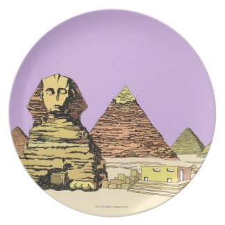 Sphinx and a Pyramid Plate