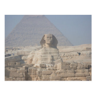 Sphinx and Pyramid in Egypt Post Cards