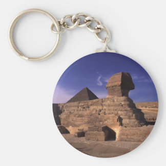 Sphinx and Pyramids at Giza Cairo Egypt Key Ring