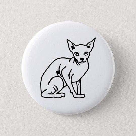 Sphinx cat 6 cm round badge