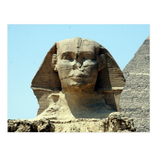 sphinx face post card