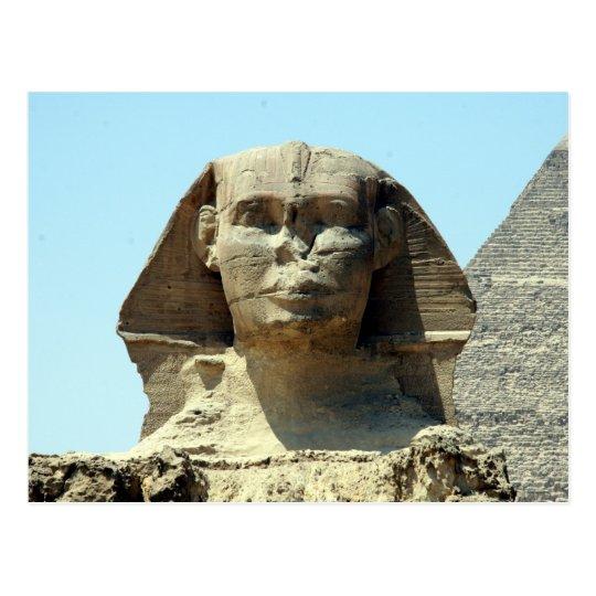 sphinx face postcard