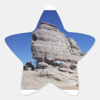 Sphinx from Bucegi Mts, Romania cool megalith Star Sticker