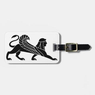 Sphinx, Greek relief design Luggage Tag