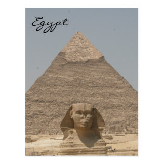 sphinx khafre egypt post card