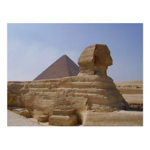 sphinx pyramid post cards