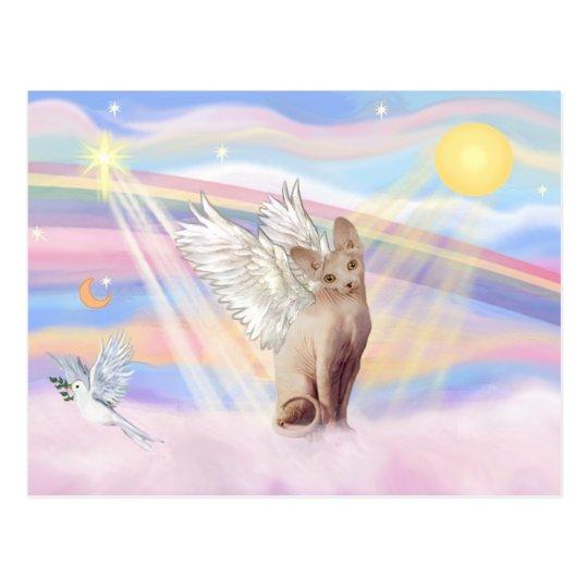 Sphynx Cat 1 - Clouds Postcard