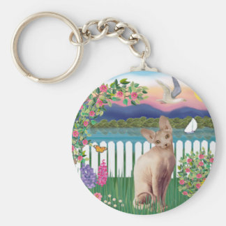 Sphynx Cat 1 - Garden Shore Key Ring