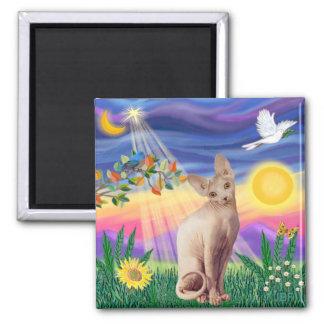 Sphynx Cat 1 - Twilight Refrigerator Magnet