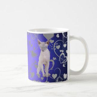 Sphynx cat basic white mug