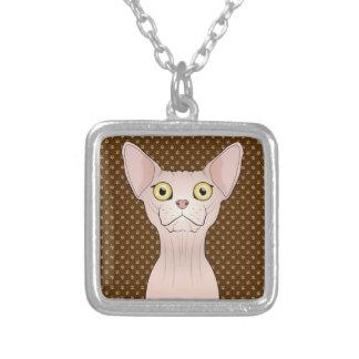 Sphynx Cat Cartoon Paws Pendant