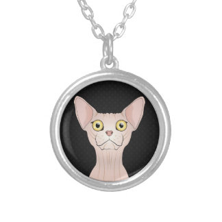Sphynx Cat Cartoon Paws Personalized Necklace