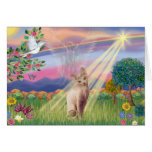 Sphynx Cat - Cloud Angel Greeting Card