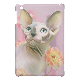 Sphynx Cat in flowers. Case For The iPad Mini
