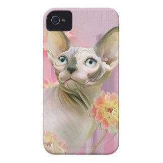 Sphynx Cat in flowers. iPhone 4 Case-Mate Case