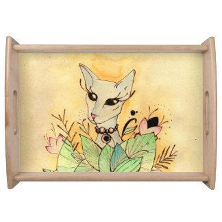 Sphynx cat serving tray