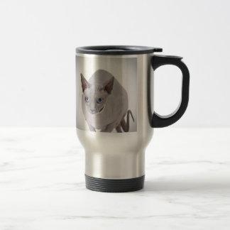 Sphynx cat stainless steel travel mug