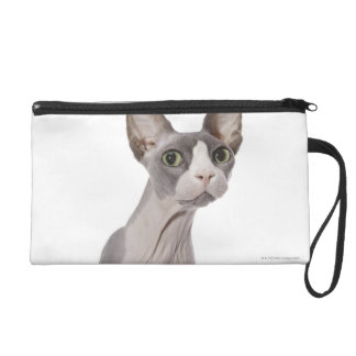 Sphynx Cat with surprised expression Wristlet Clutches