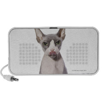 Sphynx Cat with tongue out Notebook Speaker