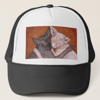 Sphynx Sphinx Cat Cats Nap Time Trucker Hat