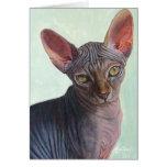 Sphynx Sphinx Cat Cats Sunitha Greeting Cards