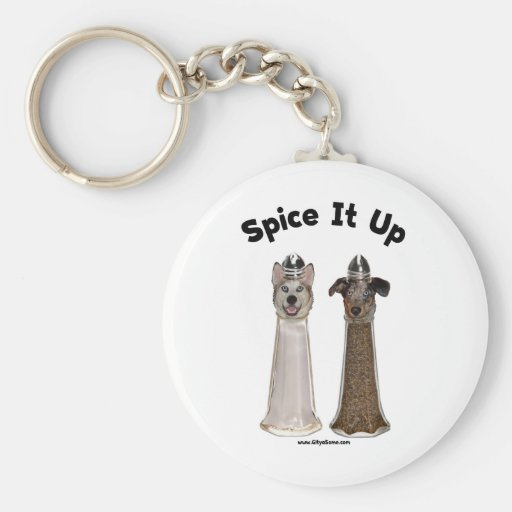 Spice It Up Salt and Pepper Dogs Keychains