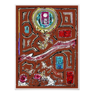 Spice Market Abstract Expressionism Poster