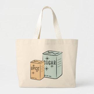 Spice Sugar Tote Bags