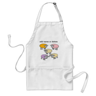 Spice up your life with colourful sheep apron. standard apron