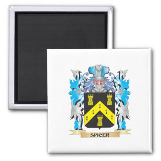 Spicer Coat of Arms - Family Crest Square Magnet