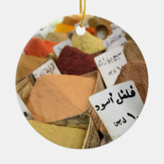 Spices on Arabic Bazaar in Syria - Ornament