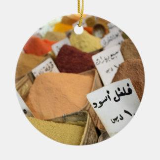 Spices on Arabic Bazaar in Syria - Ornament